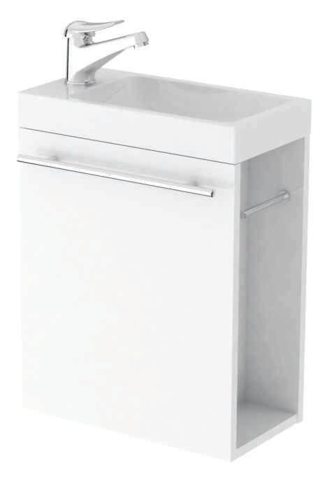Szafka z umywalką IDA 40 biała doWC